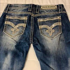 Rock Revival Aroa Capri Women's Jeans Sz 27